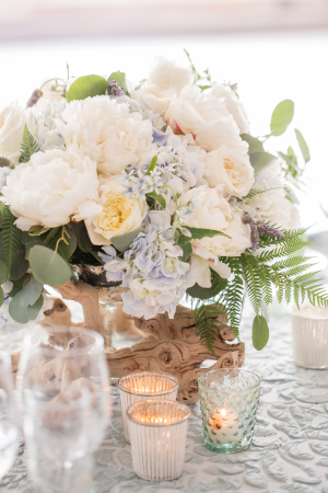 Pale Pink and Blue Wedding Flowers