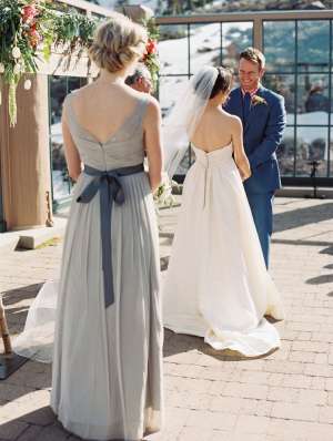Pale Slate Bridesmaids Dress