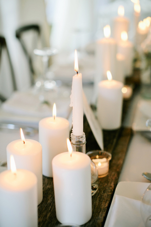 Pillar and Taper Candle Centerpiece