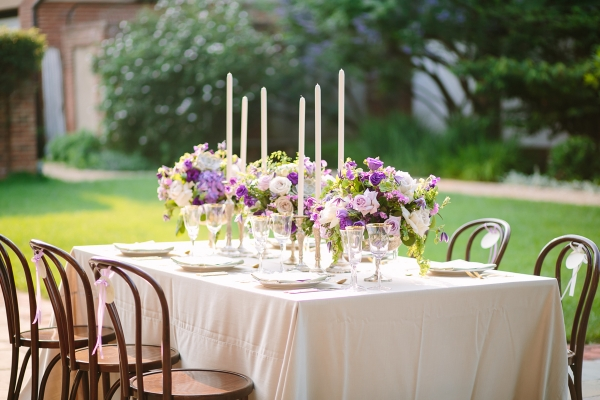 Purple Rose Centerpiece