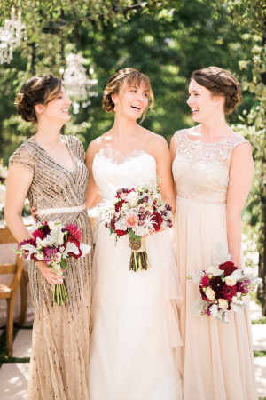 Rose Gold Bridesmaids Dresses