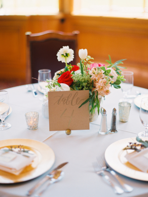 Rustic Mountain Wedding Centerpiece