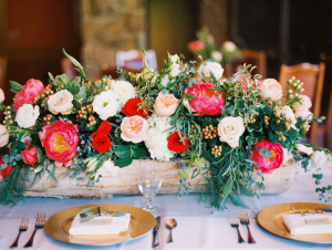 Rustic Pink and Pale Blush Centerpiece