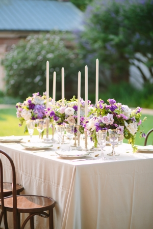 Tabletop in Shades of Purple