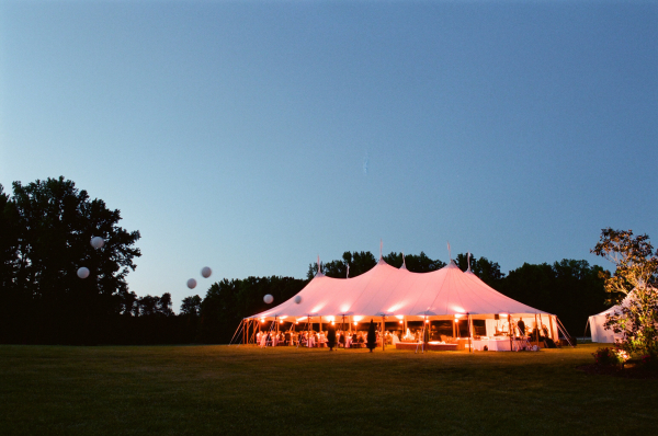 Tent Wedding on Farm