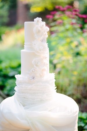 Wedding Cake with Icing Ruffles