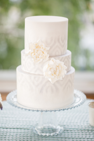 Wedding Cake with Pale Gray Icing