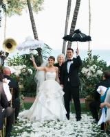 Wedding Ceremony with Parasols