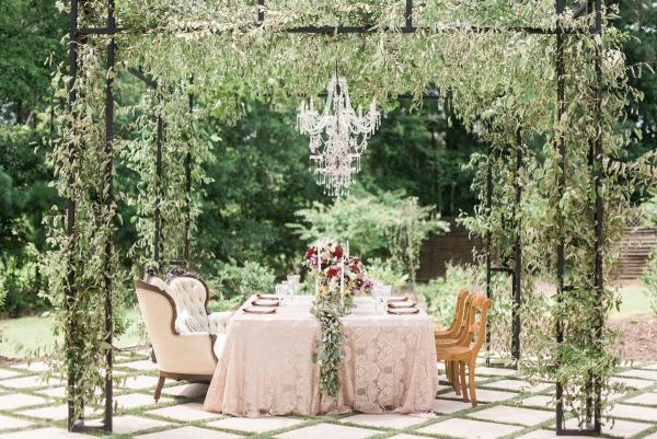 Wedding Table Under Pergola
