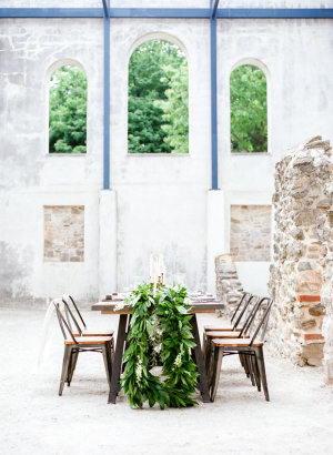Wedding Table at Historical Ruin