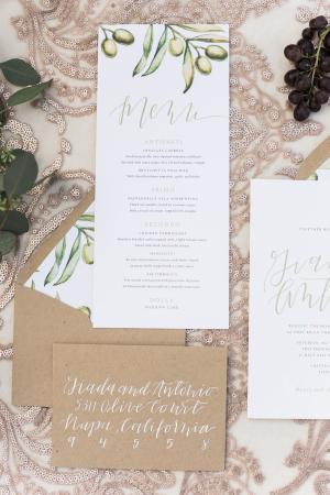 White Calligraphy Wedding Envelopes
