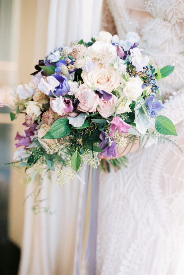 Bouquet in Shades of Purple