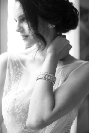 Bride in Elegant Jewelry