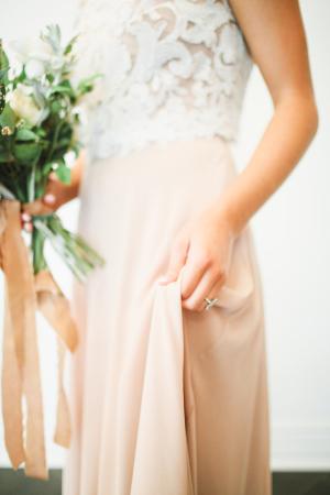 Bride in Mauve Skirt