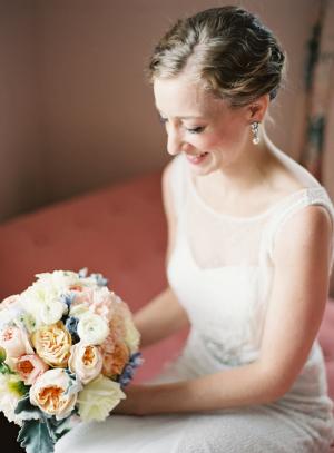 Bride in Rosa Clara