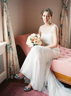 Bride in Silver Pumps