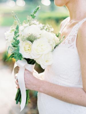 Bride in White Bouquet