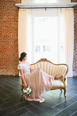 Bride on Settee