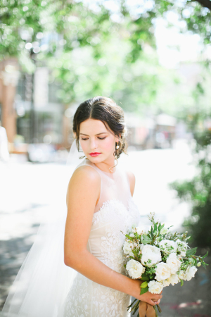 Bride with Berry Lipstick