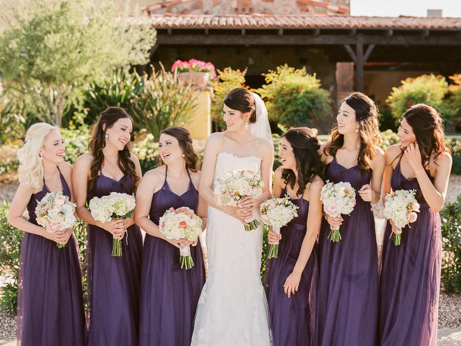 Bridesmaids in Plum