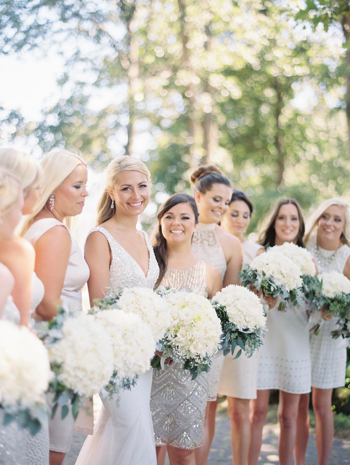 Bridesmaids in Silver