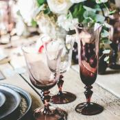 Burgundy Blown Glass