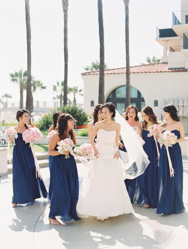 51ca06a227a Dark Blue Bridesmaids Dresses - Elizabeth Anne Designs  The Wedding Blog