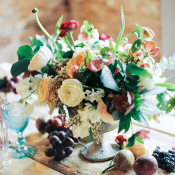 Dark Fall Wedding Color Centerpiece