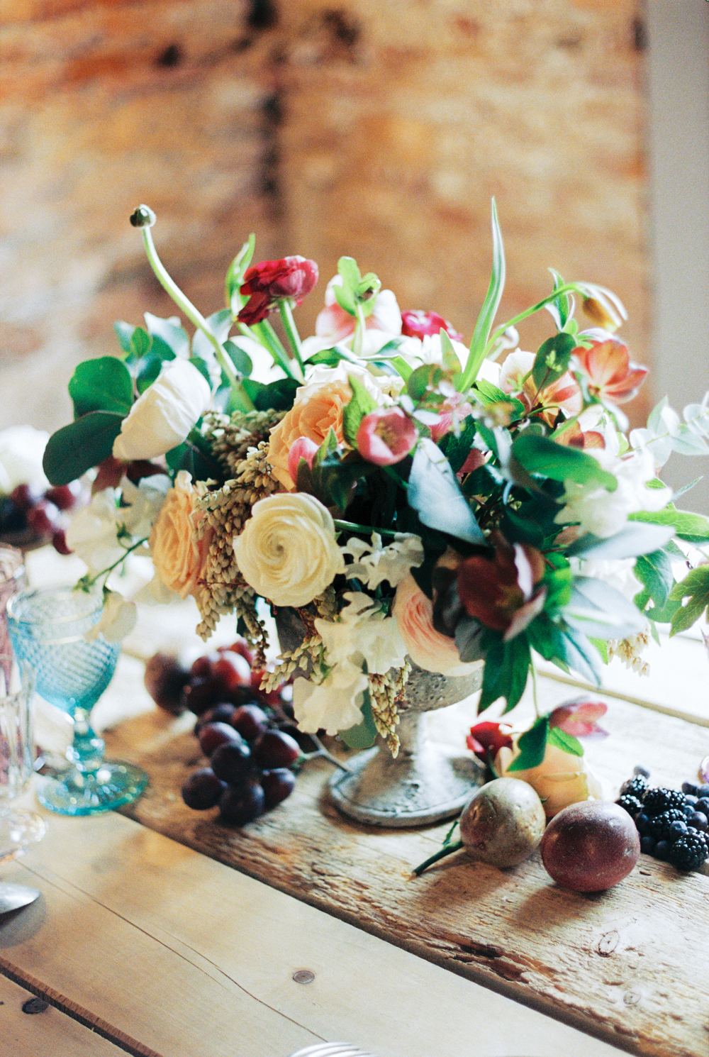 Dark Fall Wedding Color Centerpiece Elizabeth Anne