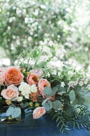 Dark Peach Wedding Flowers