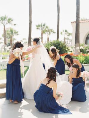 Deep Blue Bridesmaids Dresses