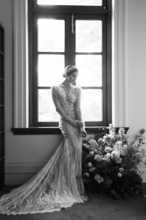 Dramatic Lace Bridal Gown