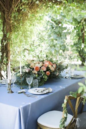 Elegant Table Under Trees