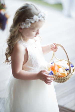 Flower Girl with Fall Petals