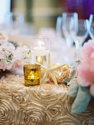 Gold Rosette Wedding Linens