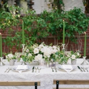 Green Taper Candle Centerpiece