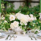 Green and Pale Yellow Centerpiece