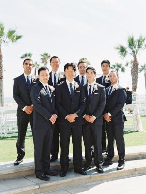 Groomsmen at California Wedding