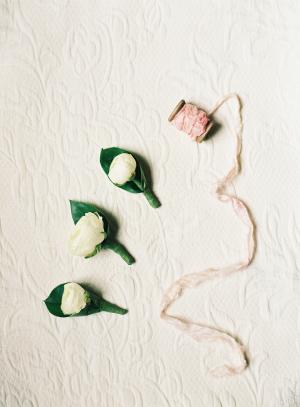 Ivory Ranunculus Boutonniere