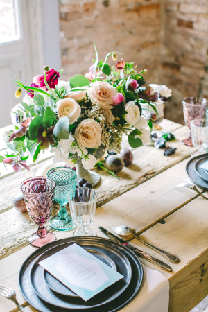Jewel Tone Wedding Table