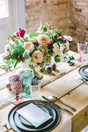 Jewel Tone Wedding Table
