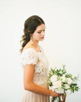 Lace and Mauve Wedding Dress