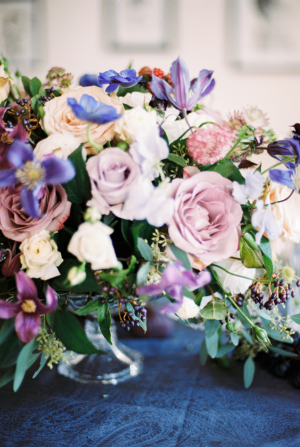 Lavender and Blue Centerpiece