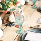 Mint and Slate Place Setting