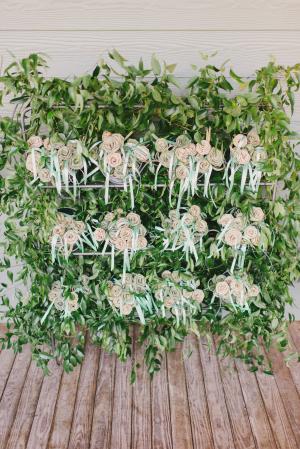 Paper Rose Favor Wall