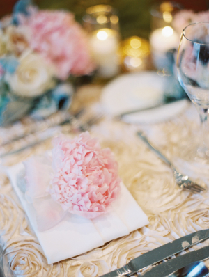 Peony at Place Setting
