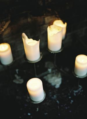 Pillar Candles at Wedding