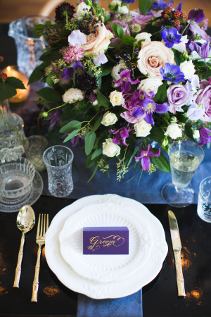Purple and Blue Tabletop