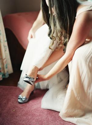 Shoes of Prey Silver Pumps