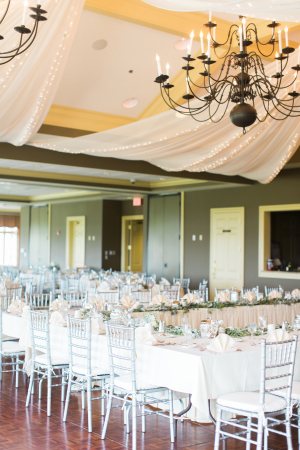 Silver and Ivory Wedding Reception